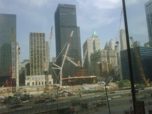 NYC Trade Center Site under construction in May 2010