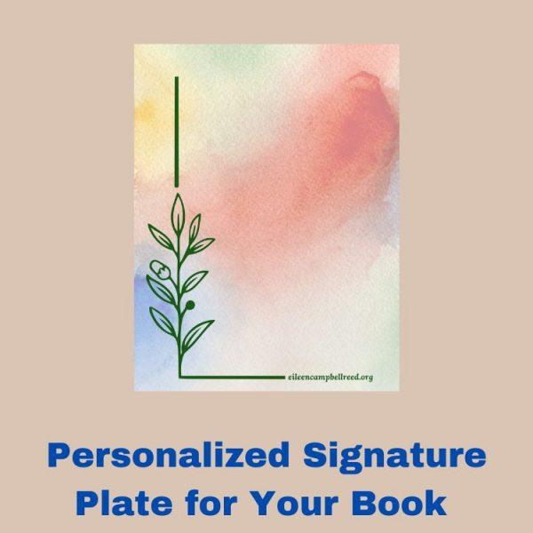 Watercolor book signature plate