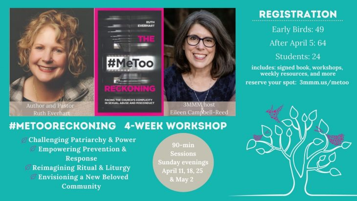 Ruth Everhart, Eileen Campbell-Reed Book cover for #MeToo Reckoning. Workshop Details