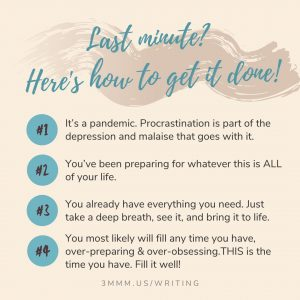 get over procrastination